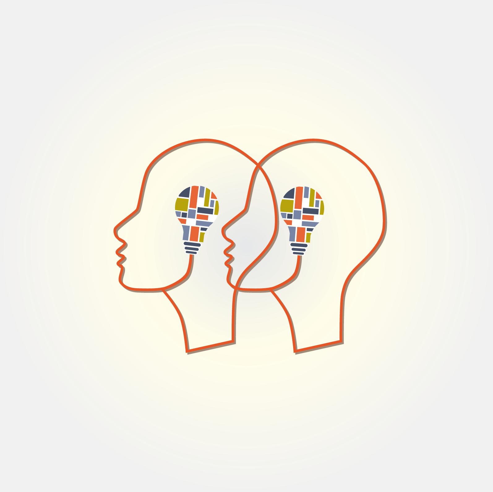 illustratie communicatie en positionering Beeld-Woord